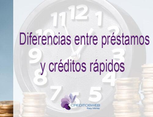 Diferencias entre préstamos rápidos de dinero y créditos